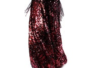 Pantaloons, YOUR SIZE, Sequin, Pants, Bloomers, RED and Black, Dance, Tribal, Bellydance, Cabaret, Dark Fusion Boutique