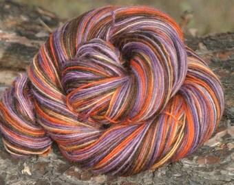 Handpainted Kid Sock Yarn - 20/55/25% Kid Mohair / Superwash Merino Wool / Nylon - Zombie Dawn