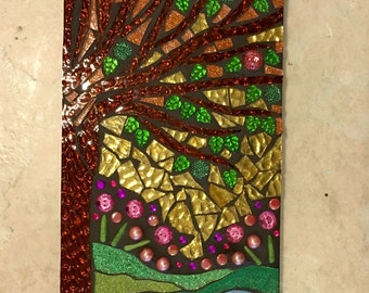 Stained Glass Mosaic Wall Hanging- EDEN