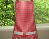 aprons for women_womens aprons_red and white gingham