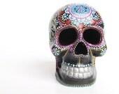 Painted Skull Small hand painted skull Sugar skull skull art