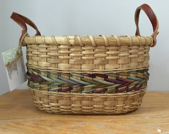 Handwoven Storage Basket for Knitting and Crochet