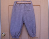 Adult knickers size 7,  Newsies, pirates, renaissance, colonial costume, Halloween  light brown linen  only one