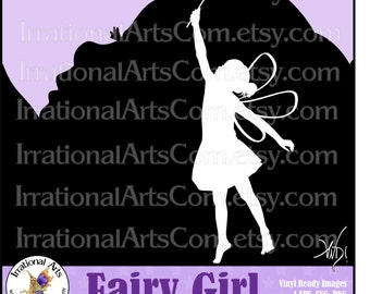 Fairy Girl pose 1 - with 1 eps & svg Vector Vinyl Ready files and 1 png digital graphics and commercial license [INSTANT DOWNLOAD]