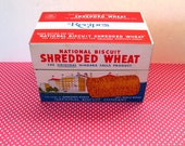 Vintage Shredded Wheat Metal Recipe File, Packed with Recipes, Clippings, Handwritten, with Dividers