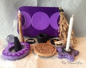 Pocket Travel Altar in Shades of Purple Ready to Ship