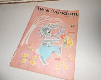 Vintage Wee Wisdom Childrens Magazine, Vintage Easter, Vintage Spring Decor