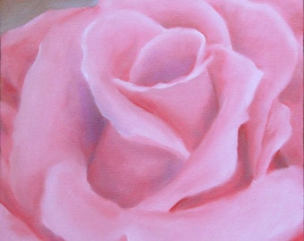 Rose original oil painting