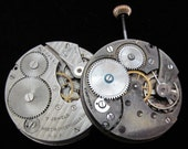 Vintage Antique Watch Pocket Watch Movements  Steampunk Altered Art S 8