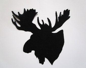 Woodland Moose Iron On Appliques Pick Size