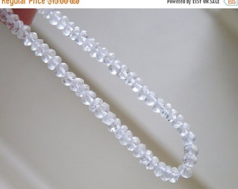Clearance SALE Rock Crystal Quartz Gemstone Clear Micro Faceted Israeli Cut Rondelle 3.5mm Full strand 120 beads
