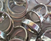 "Pewter Rings - hand casted rings, stamping rings, ring blanks, 1/8"" width, 3/16"" width, and 1/4"" width"