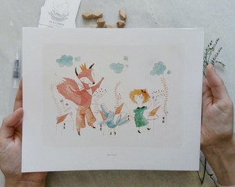A4 Party in the forest print