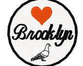 Love Brooklyn Pigeon Patch, New York Patch, City Patch,Iron On