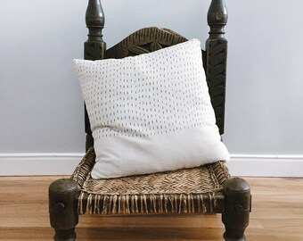 Rain Design / Hand Printed Linen Throw Pillow Cover / Home Decor Pillows