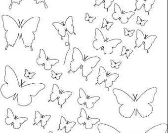 REDUCED PRICE!!  Art Anthology Stencil - Chasing Butterflies