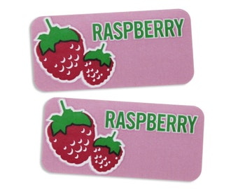 Raspberry Bakery Labels - stickers for packaging cookies, cake, muffins, treats, and baked goods