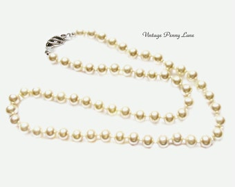 Vintage EVCO Glass Pearl Bead Necklace