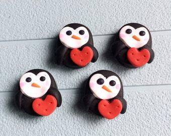 Sweet Heart Penguin  - set of 4