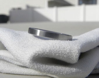 Titanium Ring or Wedding Band 3mm size 11.5 Ready to Ship Clearance