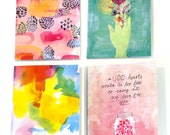 SALE 4 x Sweet William Greeting cards at a great price - Gift