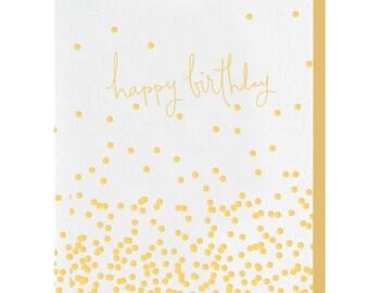 Letterpress 'Confetti Birthday' Card