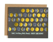 Here's to Many More Moons - Happy Birthday Illustrated Card//1canoe2