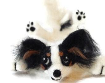 Custom Dog Bookmark, Splat papillon dog Bookmark, papillon personalised bookmark, Customized dog bookmark