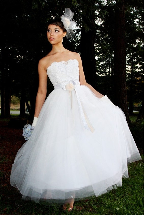 50s Wedding Dress, 1950s Style Wedding Dresses, Tea Length Wedding Dresses 1950s Wedding Dress   AURORA1950s Wedding Dress   AURORA $1,950.00 AT vintagedancer.com