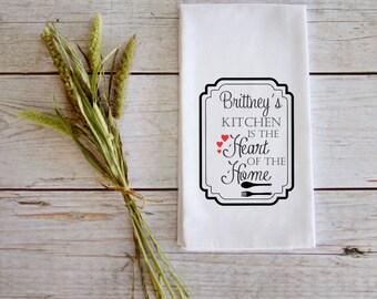 Personalized Tea Towel Wedding Gift Customizable