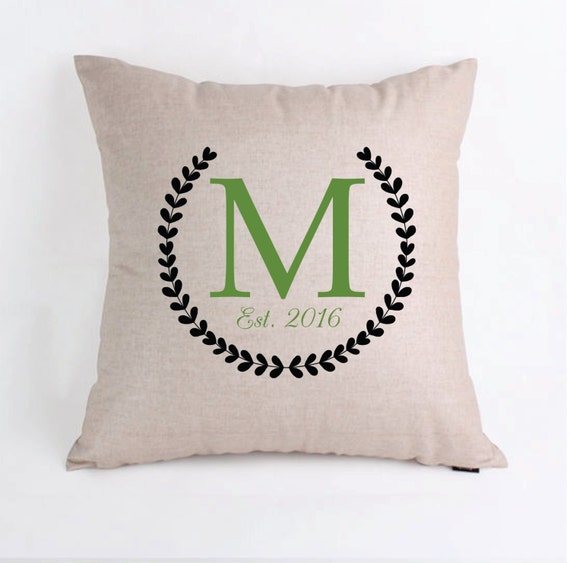 Personalised Wedding Gifts Pillow Cases : Personalized Wedding Gift Pillow Cover Pillow by TheMonogramMaker