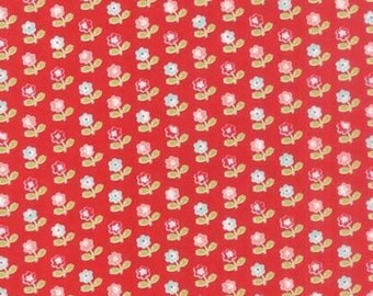 Moda Vintage Picnic 55121 11 Red Falling Flowers By The Yard