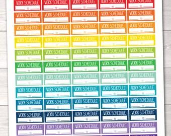 ON SALE Work Schedule Printable Planner Stickers / Instant Download Work Functional Planner Sticker PDF