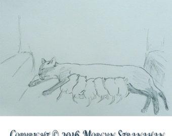 2016 Cat Series #16 (original OOAK drawing)