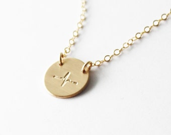 Heartbeat Necklace/ Gold or Silver/ EKG Necklace/ Everyday Wear/ Layering Necklace/ Pulse Lifeline Gift Sister Friend Necklace