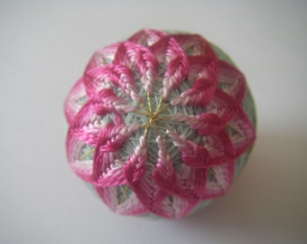 Mini hand made Temari(blue,pink)