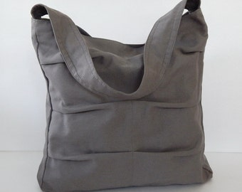 Sale - Grey Canvas Bag, shoulder bag, tote, purse, handbag, unique, stylish, messenger bag, women - Lisa