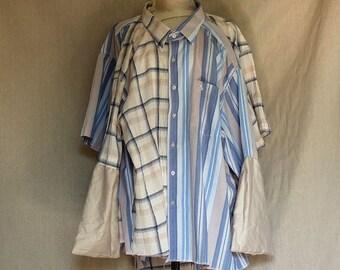 The Supershirt - Huge Shirt / Dress / Tunic  Sculpture - Wearable Versatile Upcycled Men's Shirt creation