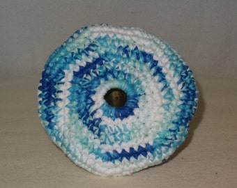 Blue and White Pocket Frisbey Fun in The Sun Frisbee For Your Dog