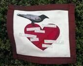 Crow's Heart - Edgar Allen Poe stitching