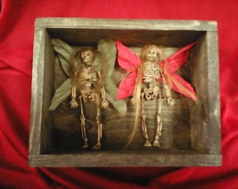 Rest in peace PRECIOUS FAIRIES in old barn wood box.
