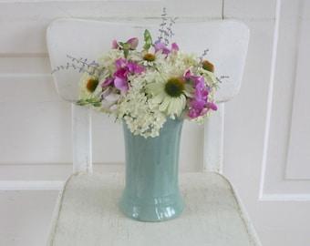Vintage Pottery Vase, Vintage Blue Pottery, Vintage Green Pottery, Vintage Blue Green Vase