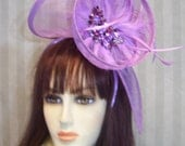 Kentucky Derby Fascinator Hat Wedding Hat Preakness Fascinator Ascot Hat Derby Easter Lavender