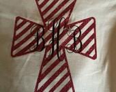 Monogrammed personalized cross Jesus monogram gift appreciation day tee vinyl glitter heat press transfer tshirt shirt funny saying