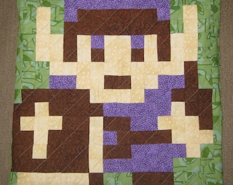 Link Quilted Pillow Cover - Purple - Free USA Shipping