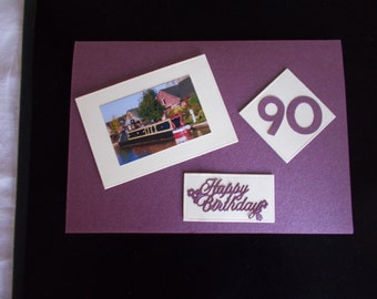 lovely 90th birthday card for a  man