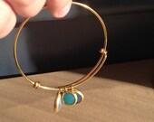 Tri-color Gem Bracelet