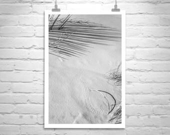 Black and White Minimalist Art, Murray Bolesta, White Sands, New Mexico, Fine Art Photography, Abstract Art, Desert Photo, Sand Dunes