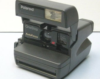 Vintage Working Polaroid One Step Auto Focus 600 Instant Film Camera for PX-600 Impossible Project Film
