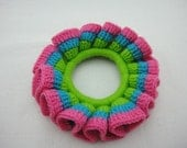 BUY 1 FREE 1 - Crochet Scrunchies - Blue, Green and Pink  (SC10)